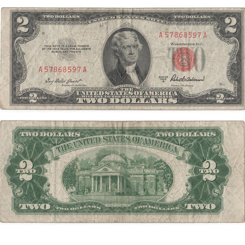 1953-A $2 Legal Tender Note  Fr. 1510 - VF