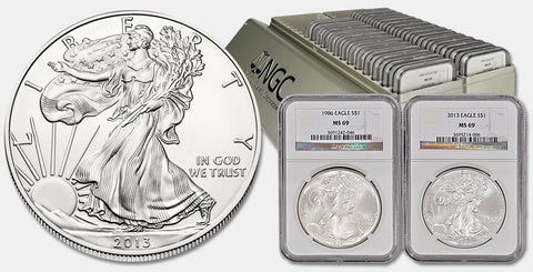 Complete American Silver Eagle Sets in NGC MS 69 (29 or 33 Coin Sets)