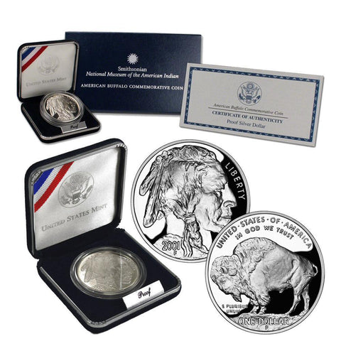 2001-P American Buffalo Commemorative Proof Coin in OGP with COA