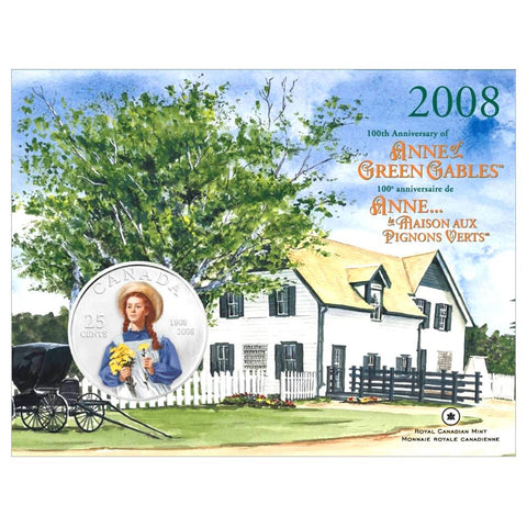 2008 Royal Canadian Mint Anne of Green Gables 25 Cent Coin