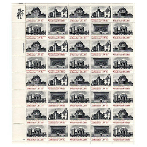 1981 18c Scott #1928-31 American Architecture Sheet (40) MNH