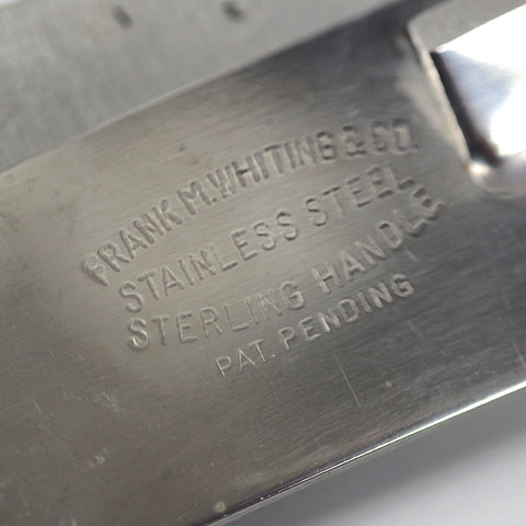 Frank M. Whiting & Co. Sterling Silver Bar Knife