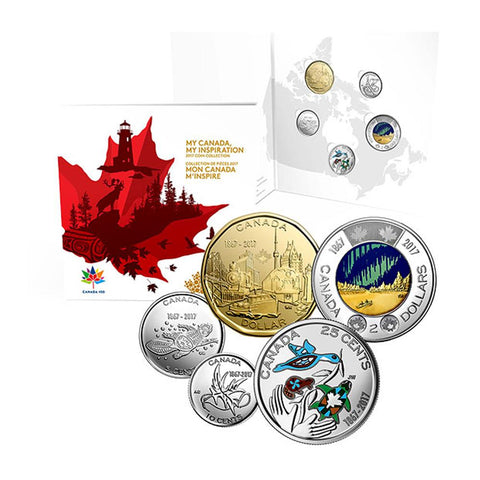 2017 My Canada My Inspiration 5 Coin Collection