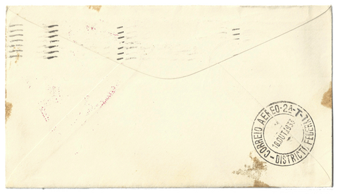 First Day Cover Air Post 1933 Century of Progress - Graf Zeppelin Envelope Back