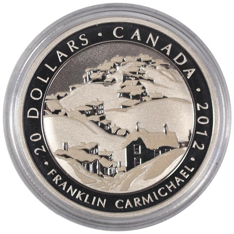 "2012 $20 Canada ""Houses, Cobalt"" Silver Coin - Gem in Capsule w/ C.O.A."