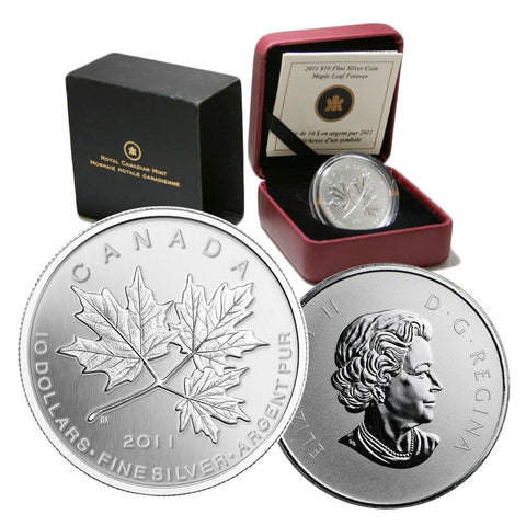 2011 $10 Maple Leaf Forever Silver Coin w/ Box & C.O.A.