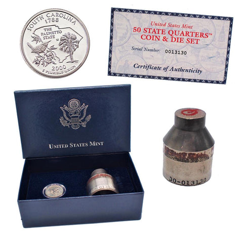 "The United States Mint 50 State Quarters Coin and Die Set ""South Carolina"""