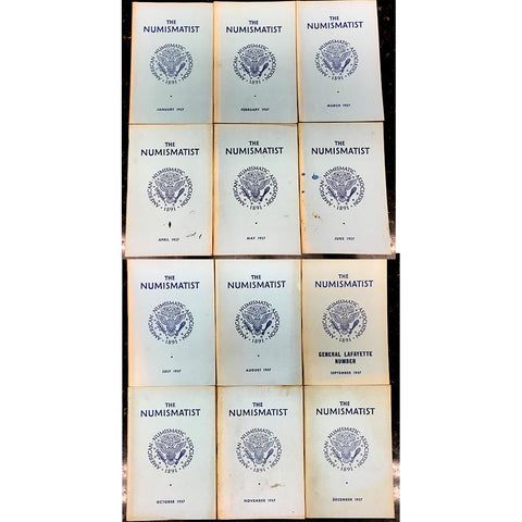 Complete 1957 The Numismatist - All 12 Issues - January-December