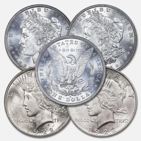5 Different Silver Dollars @ Under $37 Each!