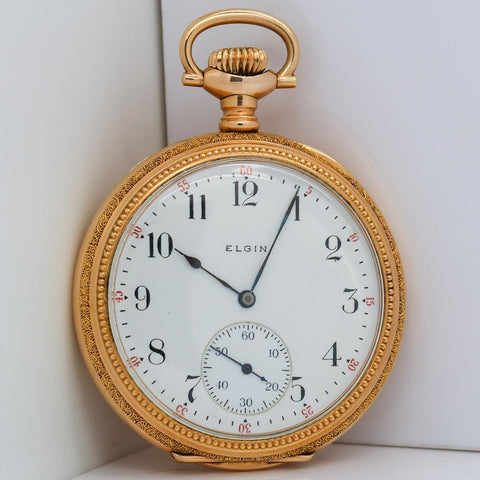 1912 Elgin Pocket Watch - Grade 315, Model 3, 15 Jewel, Size 12s - Hand Engraved