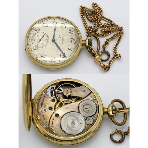 Three Elgin Pocket Watches for Parts - Not Running