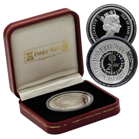 2000 Elizabeth II Isle of Man Silver Proof Commemorative w/Box
