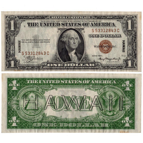1935-A $1 Hawaii Emergency Issue Silver Certificate, FR. 2300 - Very Fine