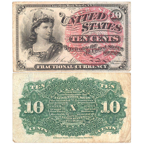 (1869-1875) 4th Issue 10¢ Fractional Fr. 1259 ~ Very Fine