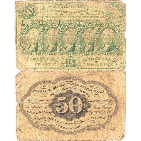(1862-1863) 1st Issue 50¢ Fractional Fr. 1312 - Good