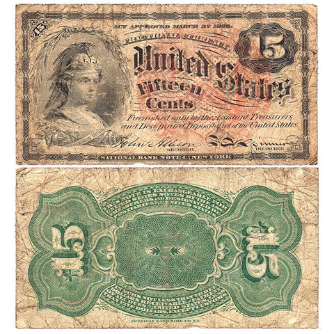 (1869-1875) 4th Issue 15¢ Fractional Fr. 1268 ~ Very Good