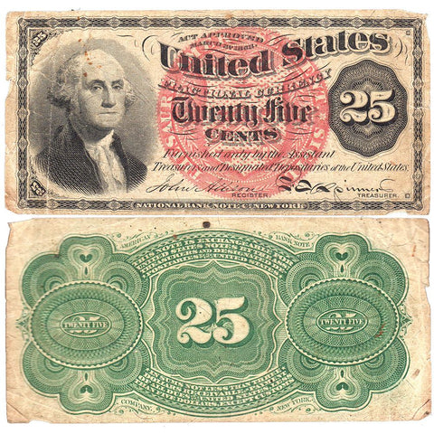 (1869-1875) 4th Issue 25¢ Fractional Fr. 1302 ~ Net Very Good