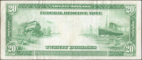 1914 $20 Cleveland Federal Reserve Note Fr. 979a - Crisp Very Fine