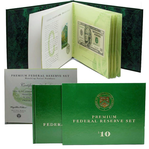 12-Note 1999 $10 Matching Serial Number Premium Federal Reserve Set