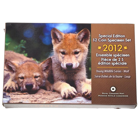 "2012 Canada Special Edition $2 Coin Specimen Set ""Young Wilderness Series"" - Wolf"