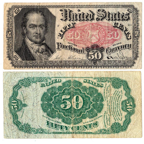 (1874-1876) 5th Issue 50¢ Fractional Fr. 1381 - Very Fine