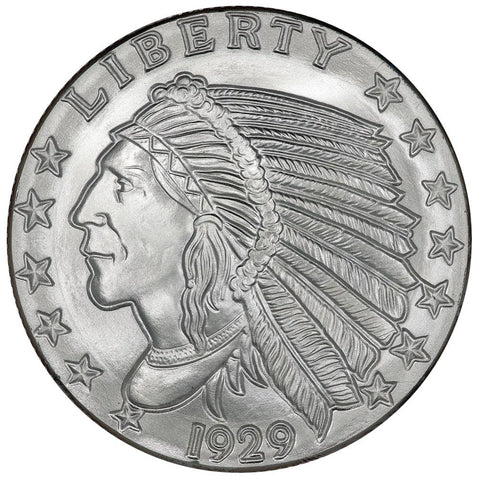 5 oz Golden State Mint .999 Silver 1929 $5 Indian Round
