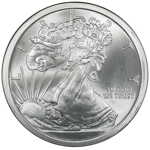 5 oz Golden State Mint .999 Silver Walking Liberty Half Round