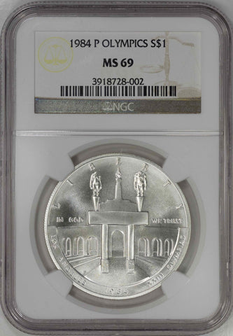 1984-P Olympics Coliseum Commemortive Silver Dollar ~ NGC MS 69