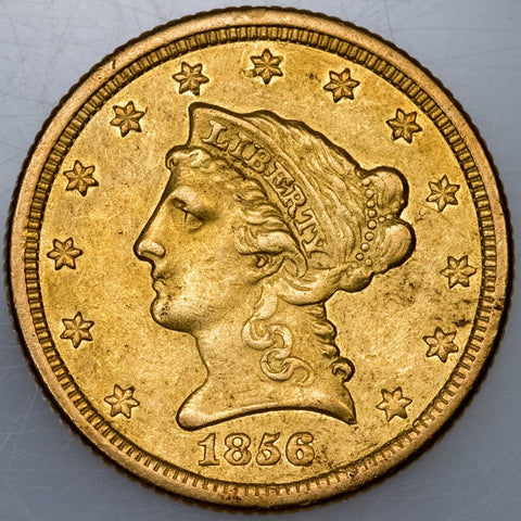 1856-O $2.5 Liberty Gold Coin (Scarce!) ~ About Uncirculated