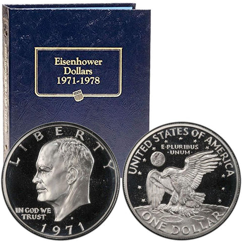 1971 to 1978 P-D-S Eisenhower Dollar 32-Coin Sets ~ PQ BU & Super Proof
