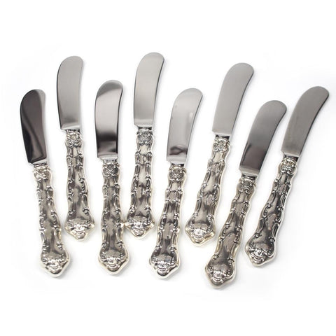 Eight Gorham Strasbourg Butter Knives - No Mono