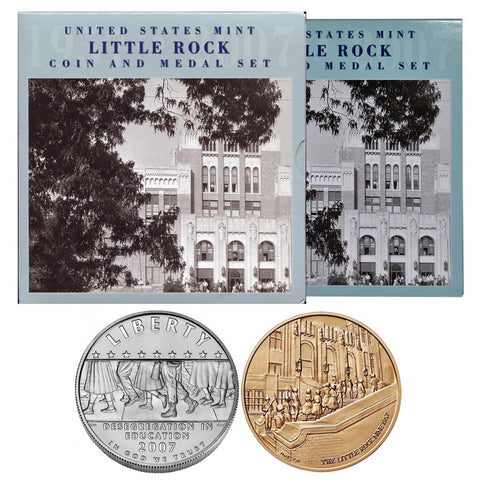 2007 United States Mint Little Rock Coin And Medal Set