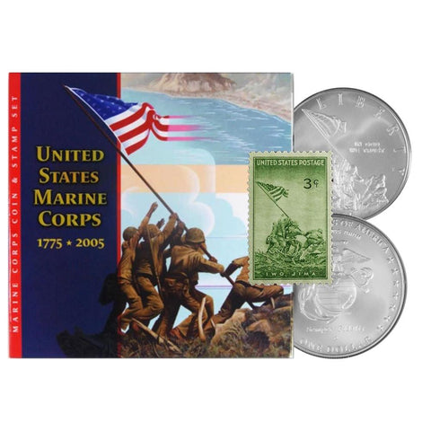 1775-2005 U.S. Marine Corps Coin & Stamp Set