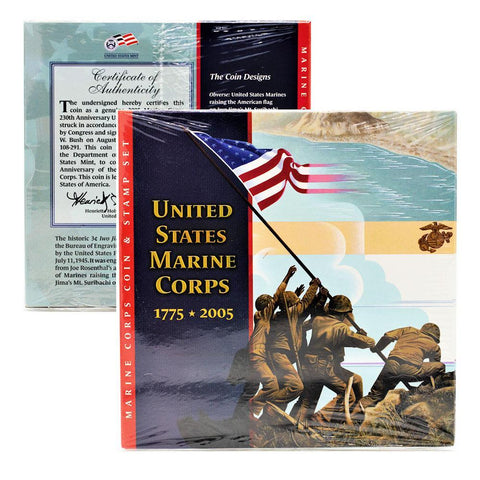 1775-2005 U.S. Marine Corps Coin & Stamp Set - Unopened