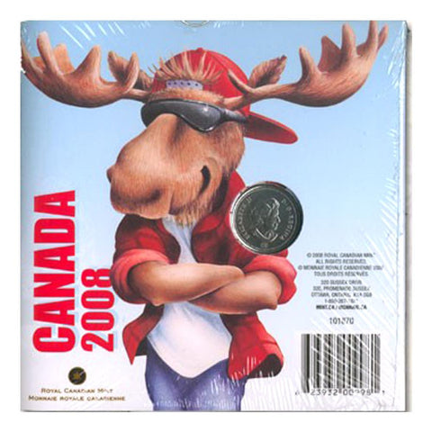 "2008 Canada ""Moose"" Coloured Coin w/ Temporary Tattoos"