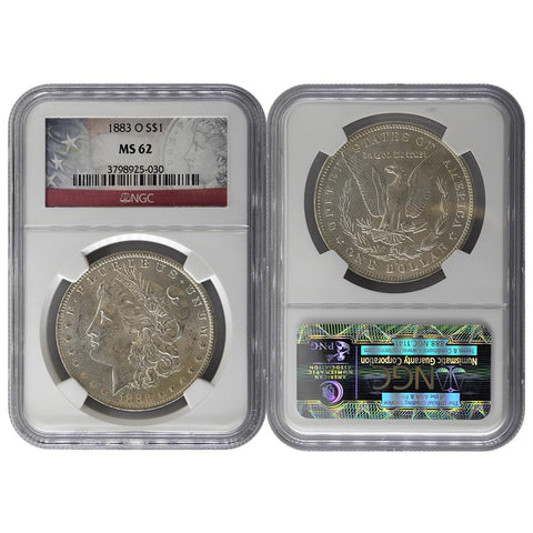 1883-O Morgan Dollar - NGC MS62
