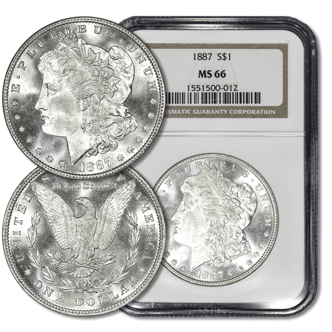 NGC MS 66 Morgan Dollars by Date