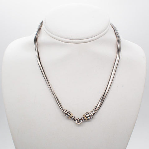 Lagos Caviar Sterling Silver/18K Gold Chain Necklace