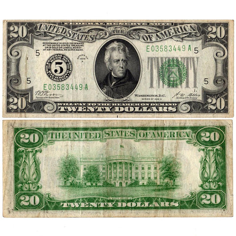 1928-A $20 Federal Reserve Star Note Richmond District Fr. 2051-E - Very Fine