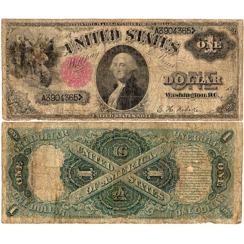 "1880 ""Sawhorse"" $1 Legal Tender Note - Fr. 34 - Very Good"