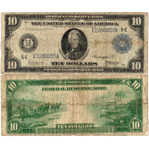 1914 $10 Federal Reserve Bank of Richmond Fr. 920 - Very Good