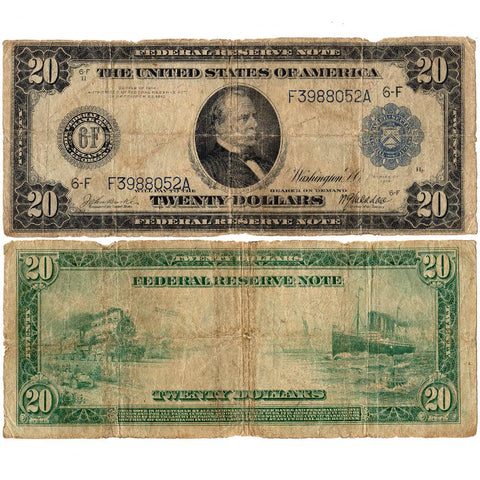 1914 $20 Federal Reserve Bank of Atlanta Note Fr. 984 - Very Good