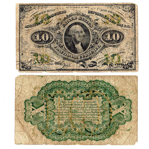 (1864-1869) 3rd Issue 10 Cent Fr. 1255 - Very Good