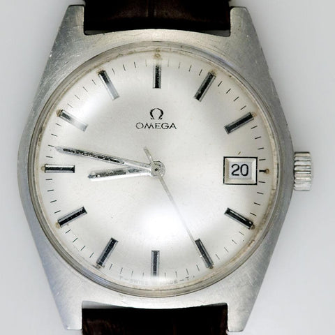 1970 Omega Cal. 613 Manual Quickset Stainless Watch w/ New Leather Band - Strong Runner