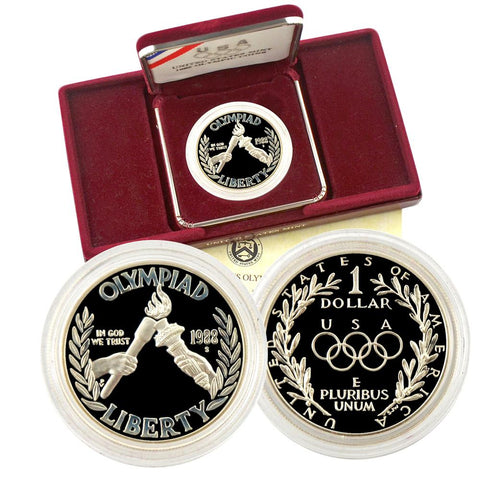 1988-S Olympic Commemorative Silver Dollar - O.G.P. & C.O.A.