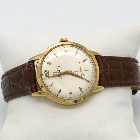 14K Gold 1952 Omega Automatic Cal. 342 Ref. F-6516 17 Jewel - Strong Runner