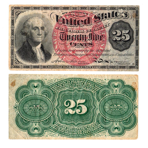 (1869-1875) 4th Issue 25¢ Fractional Fr. 1302 ~ Very Fine
