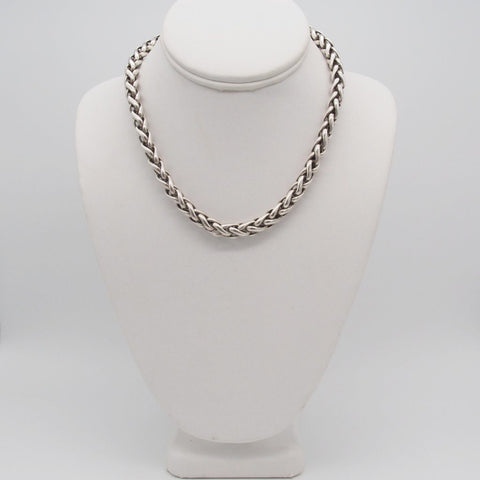 Mens David Yurman. Sterling Silver. 14K Gold Necklace