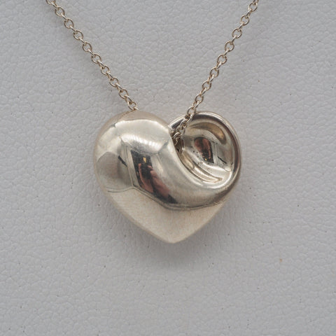 Tiffany & Co. Sterling Silver Folded Heart Necklace