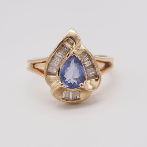 14K Tanzanite & Diamond Ring
